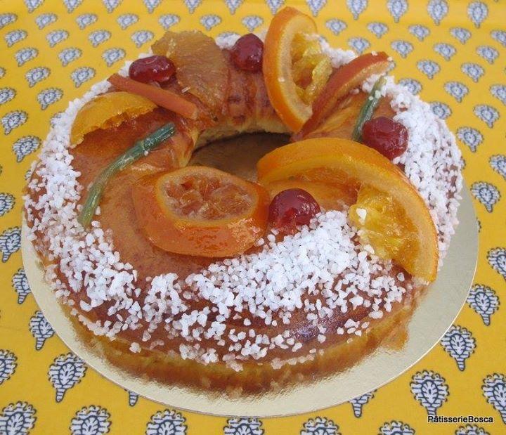 Gâteau des Rois aux fruits confis maison - Patisserie Bosca